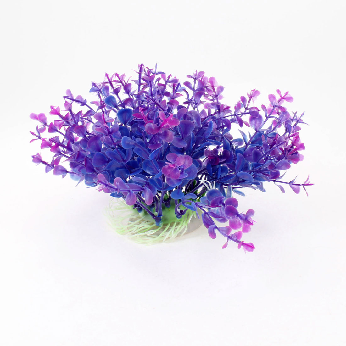 "Indigo Blue Purple Manmade Water Plant Decoration 6.7"" Heigth for Fish Tank"