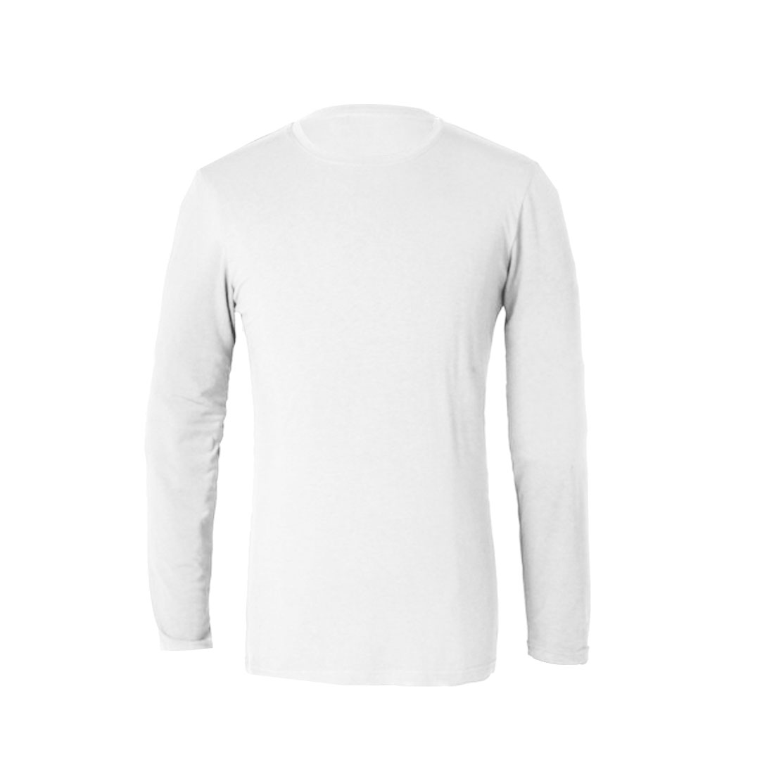 Pullover Stretchy Slim Fit Pure White Spring Autumn Shirt for Man S