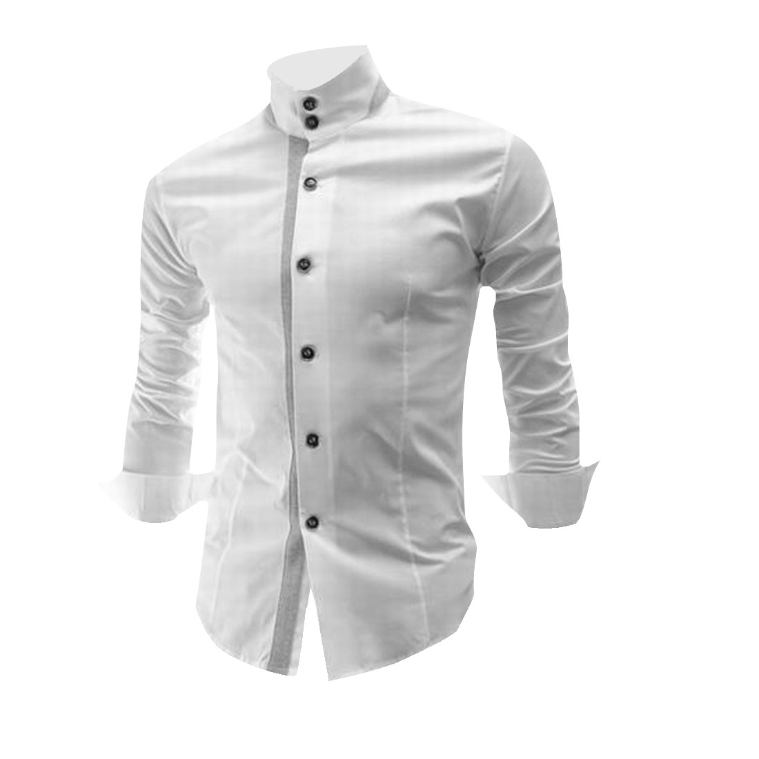 Men Stylish White Color Button Down Casual Shirt S