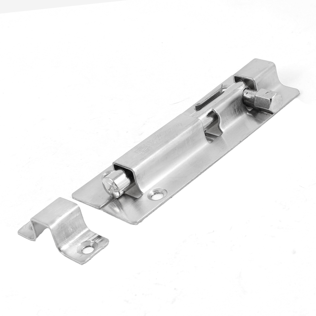 Hardware Part Door Window Silver Tone Security Guard Barrel Bolt 11.5cm Long