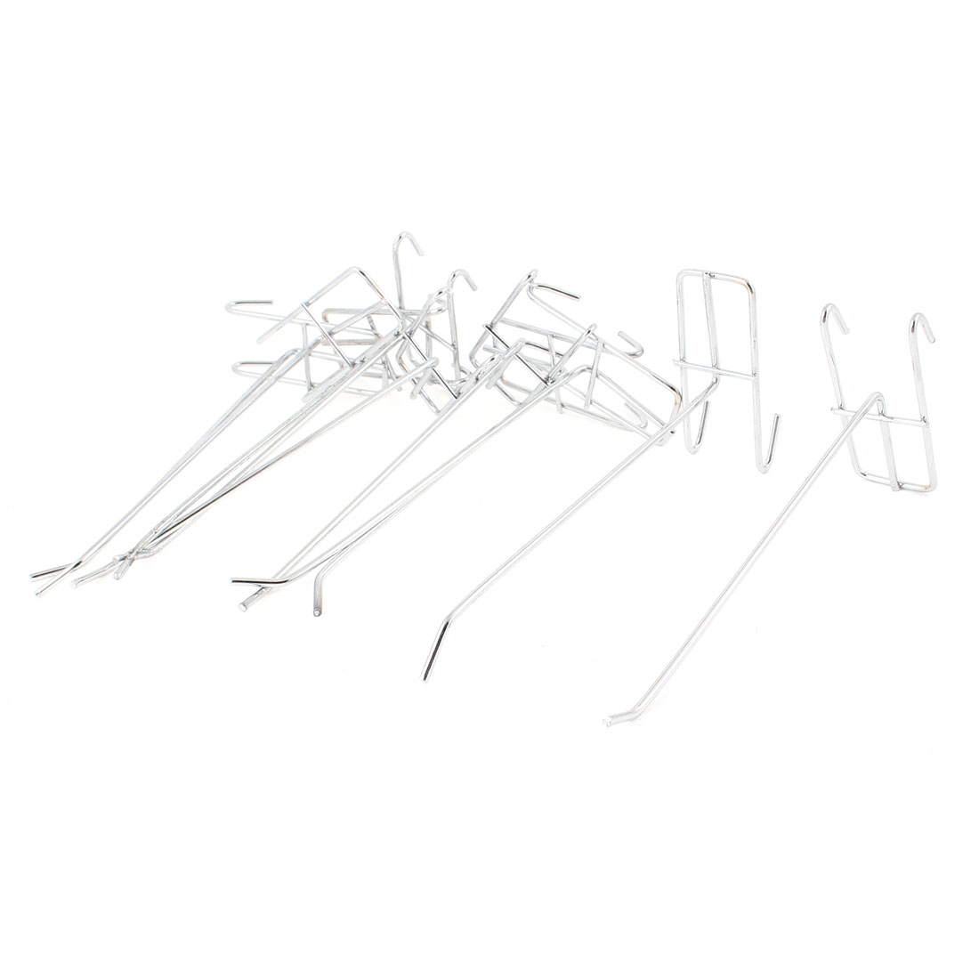 "10 Pcs Supermarket Store Slat Wall Metal Bracket Display Hooks 5.5"" Length"