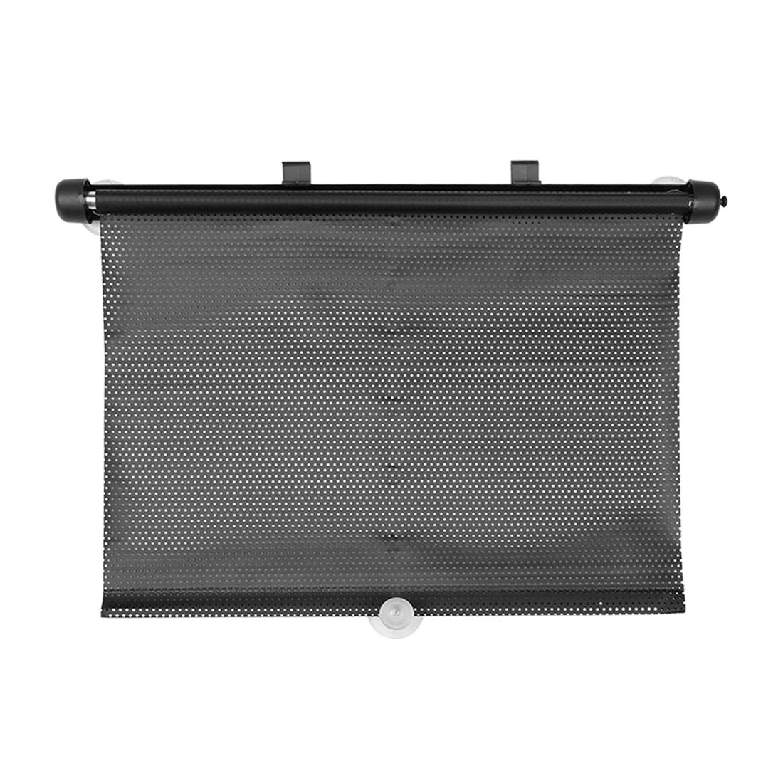 47cm x 36cm Mesh Design Front Rear Window Moount Sun Shield Black Pair for Car