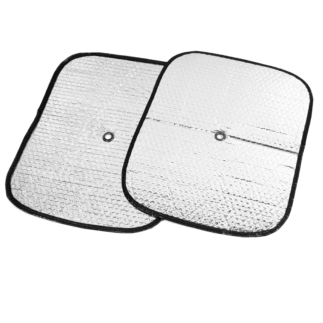 Truck Car 44cm x 35cm Windscreen Window Sun Shield Protector Silver Tone 2 Pcs