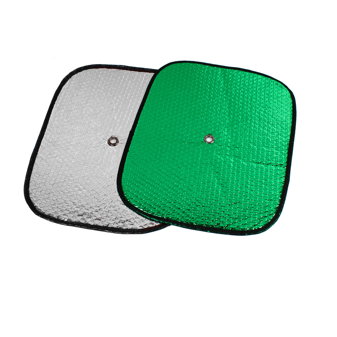 44cm x 35cm Green Front Rear Window Sun Shield 2PCS w Suction Cup for Auto