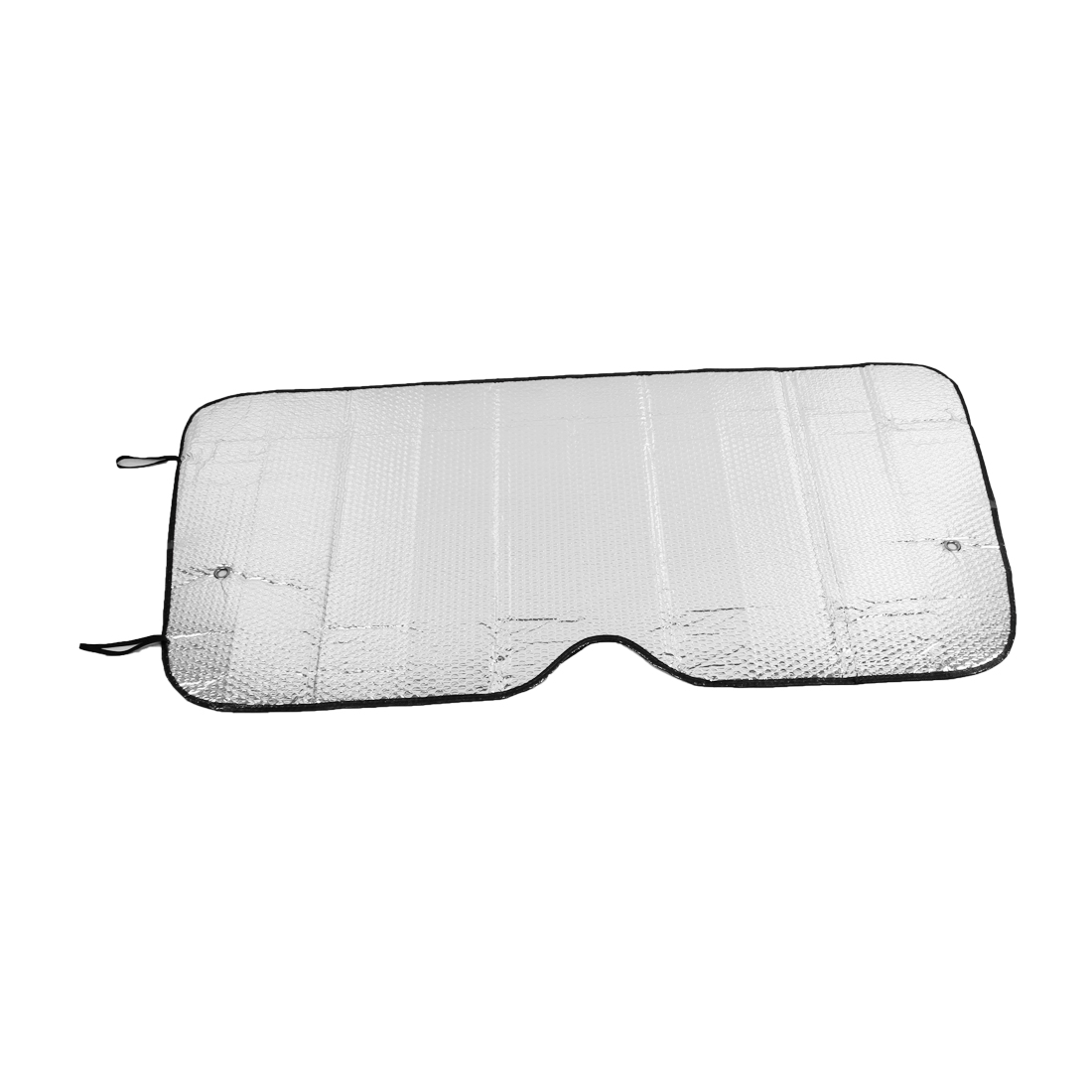 Vehicle Car 126cm x 61cm Silver Tone Sun Visor Sunshield Sunshade w Suction Cup