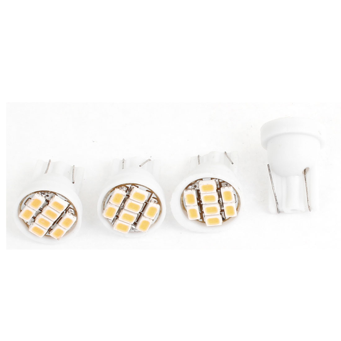 T10 White 8LED 1206SMD Dashboard Instrument Light Bulb 4PCS for Auto Car