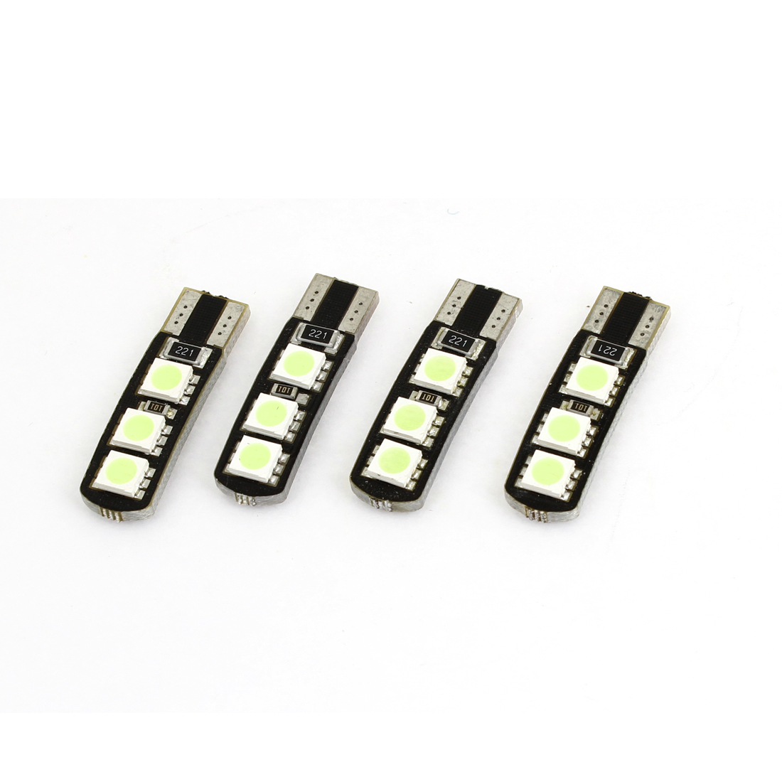 2 Pair T10 6 White 5050 SMD LED Auto Car Error Free Canbus Lamp