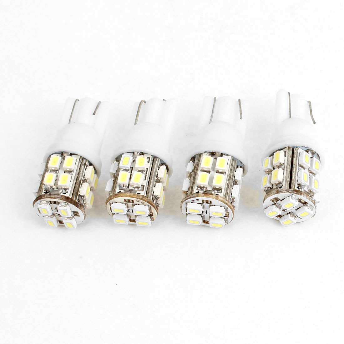 4 x White 20 1206 3528 SMD LED Dashboard Wedge Light Lamp Bulb T10 for Auto