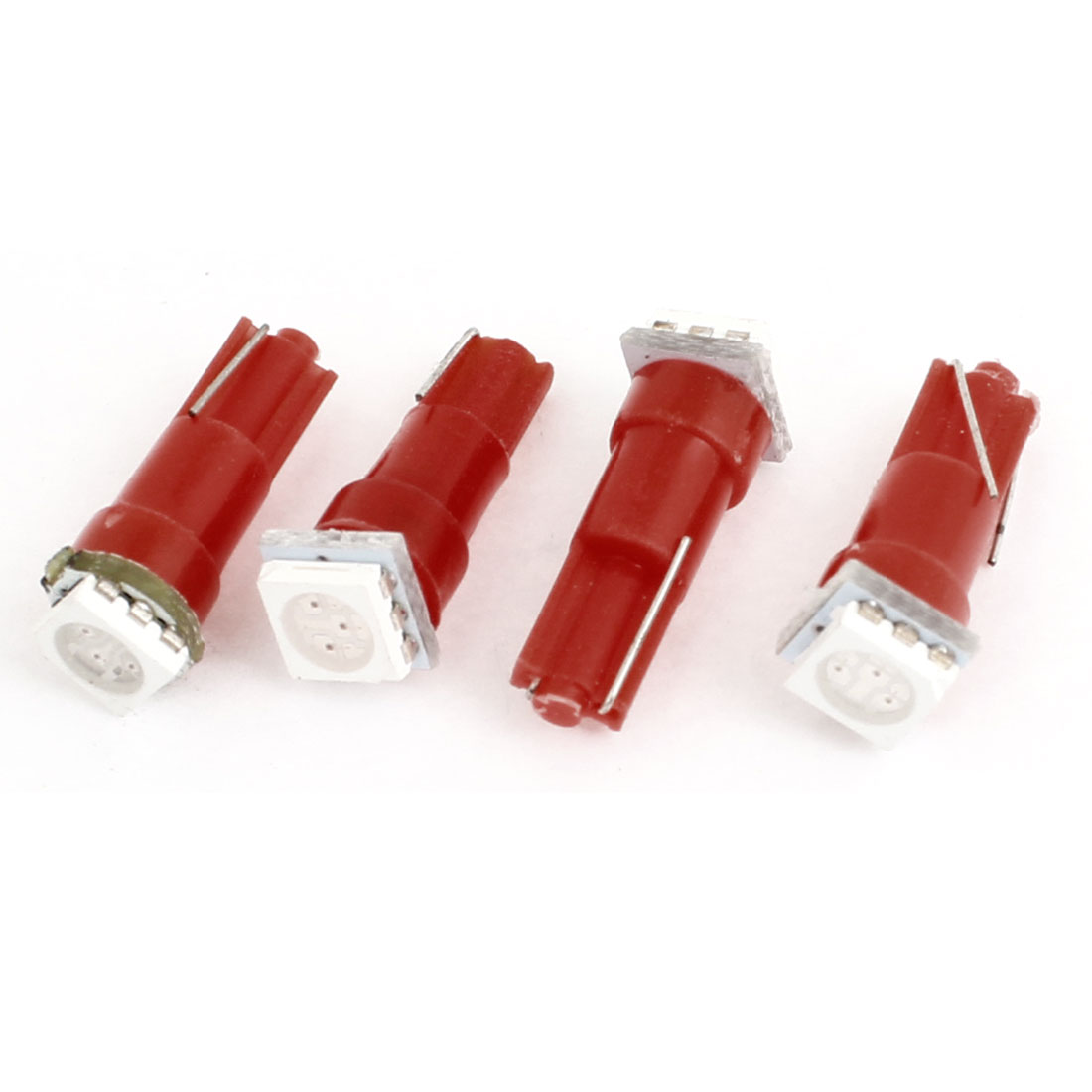 T10 Red 5050 SMD LED Dashboard Fascia Board Light Bulb 4pcs for Car