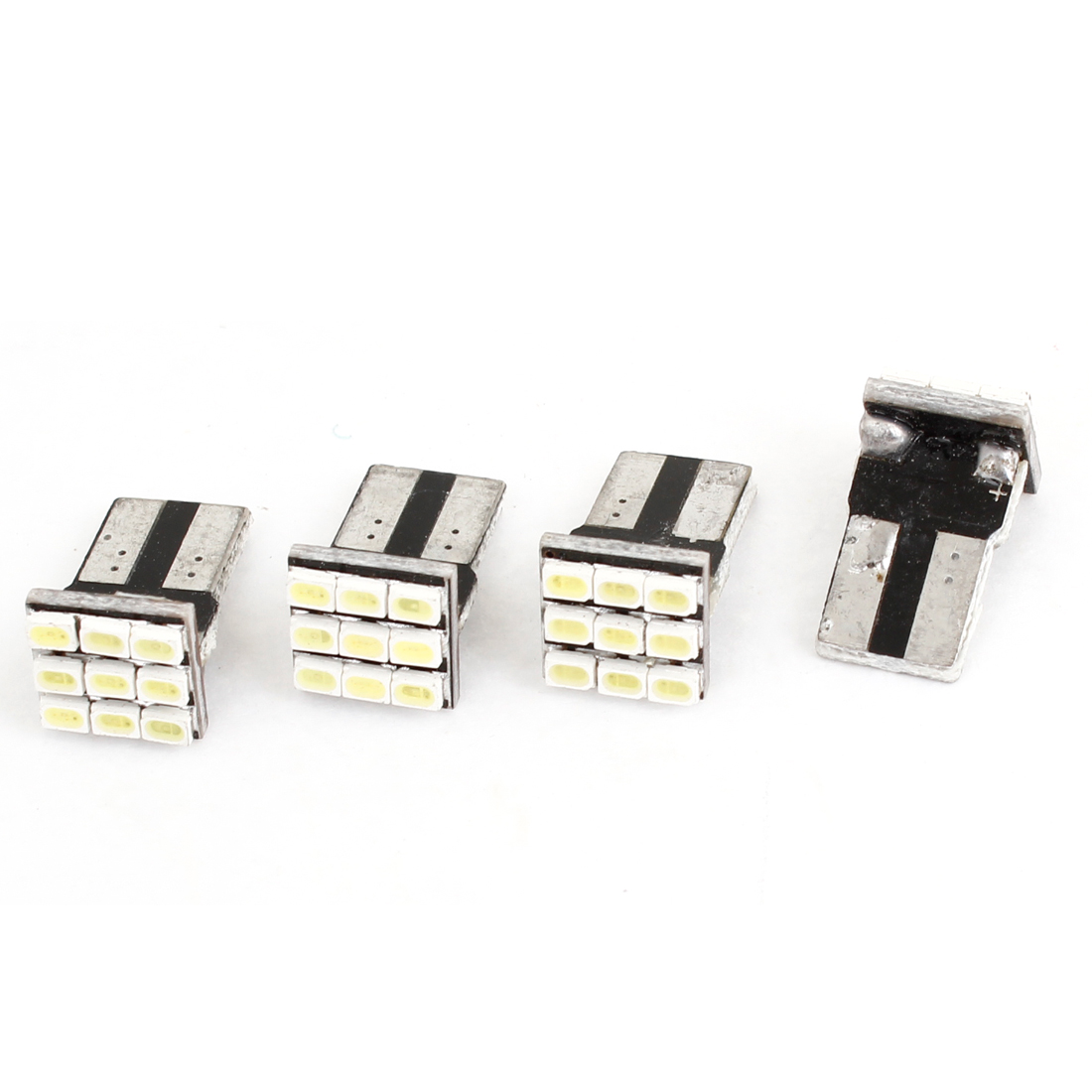 4PCS T10 White 9 LED 1206 SMD Interior Dashboard Light Bulb for Car