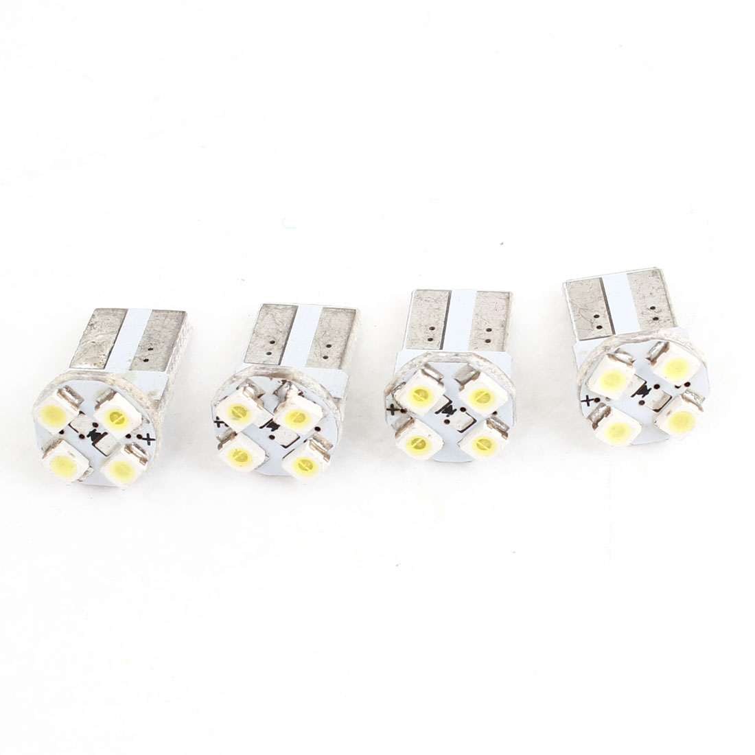 4 x White 4 1206 3528 SMD LED Dashboard Backup Light Lamp Bulb T10 for Auto