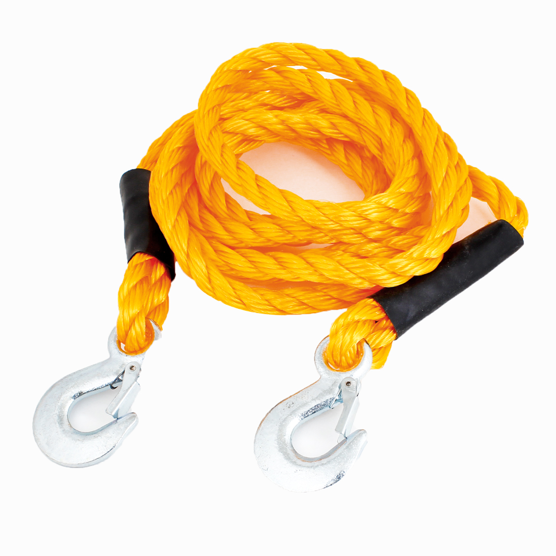 Truck Auto 1.5 Tons Capacity Emergency Twisted Tow Strap Orange 3.5M