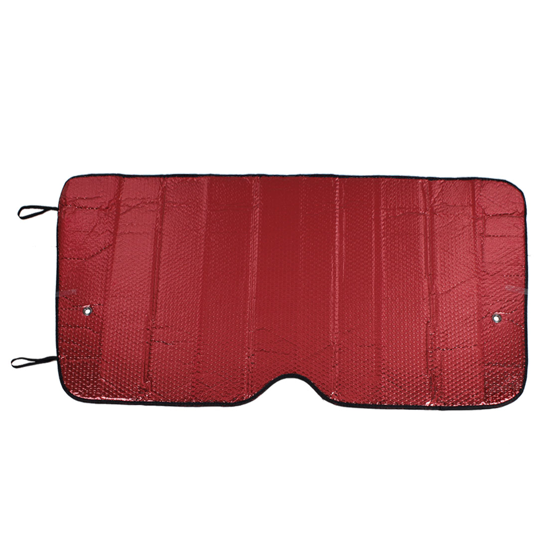Red Textured Windshield Sun Visor Sunshade Protector 116 x 61cm for Car
