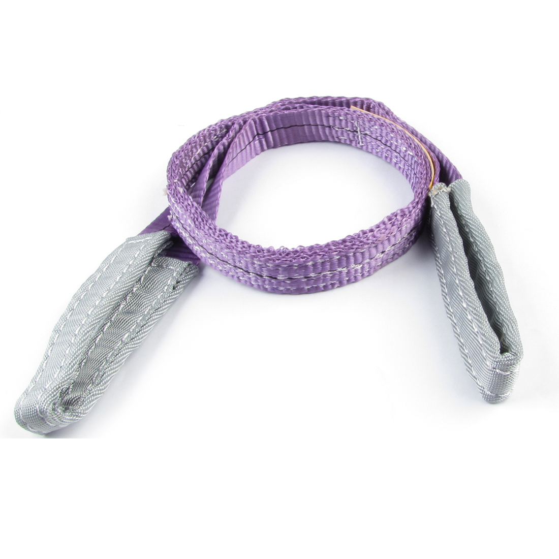 25mm Width 1M 1T Flat Eye to Eye Web Lifting Tow Strap Purple