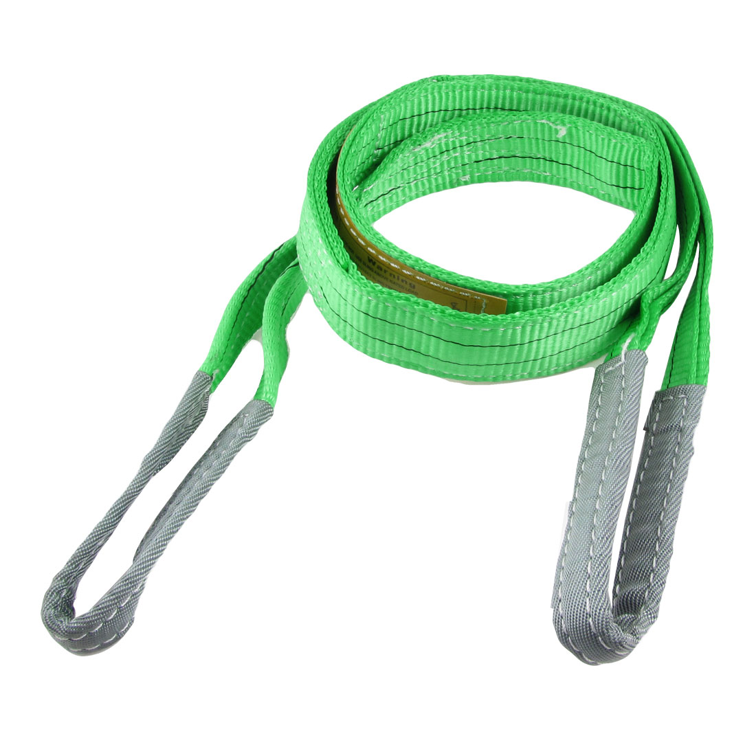 Green 2T Straight Capacity 2M Eye to Eye Web Lifting Tow Strap