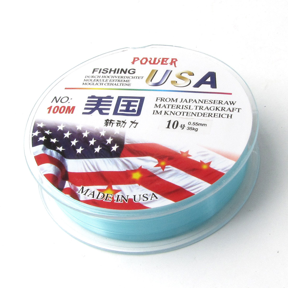 0.55mm Diameter 100M Plastic Thread 35Kg Fishing Line Blue Clear