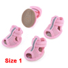 Dog Rubber Shoes Sole Mesh Sandals Yorkie Chihuaha Pink XXS 2 Pairs