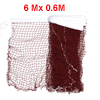 6m Length Nylon White Trim Burgundy Braided Mesh Badminton Training Net