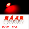 Vehicle Car Dash Instrument Board LED Light Bulb Red T10 1W 4 Pcs