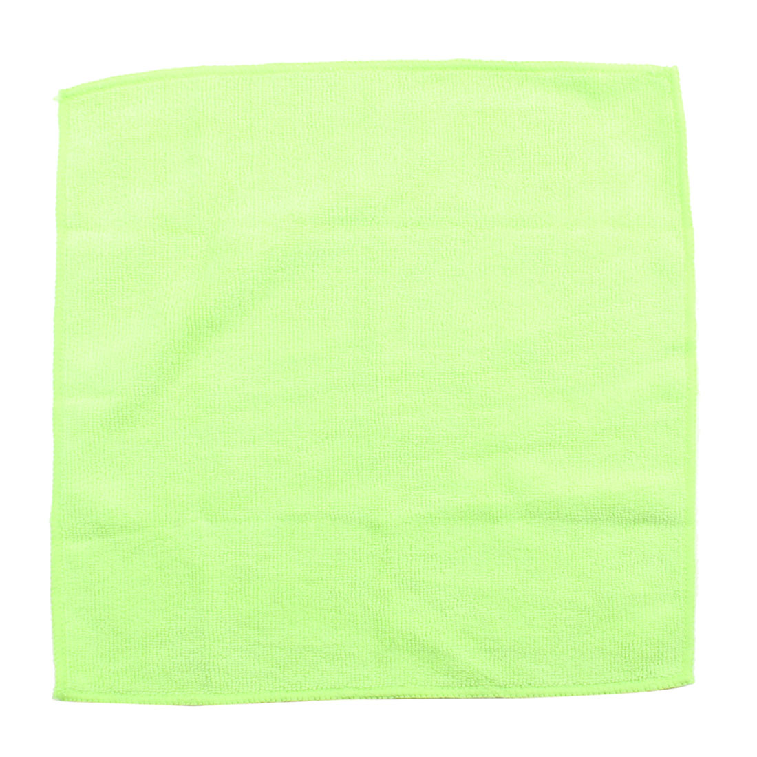 Household Light Green 30cm x 30cm Squared Dish Bowl Washing Cleaning Cloth Towel