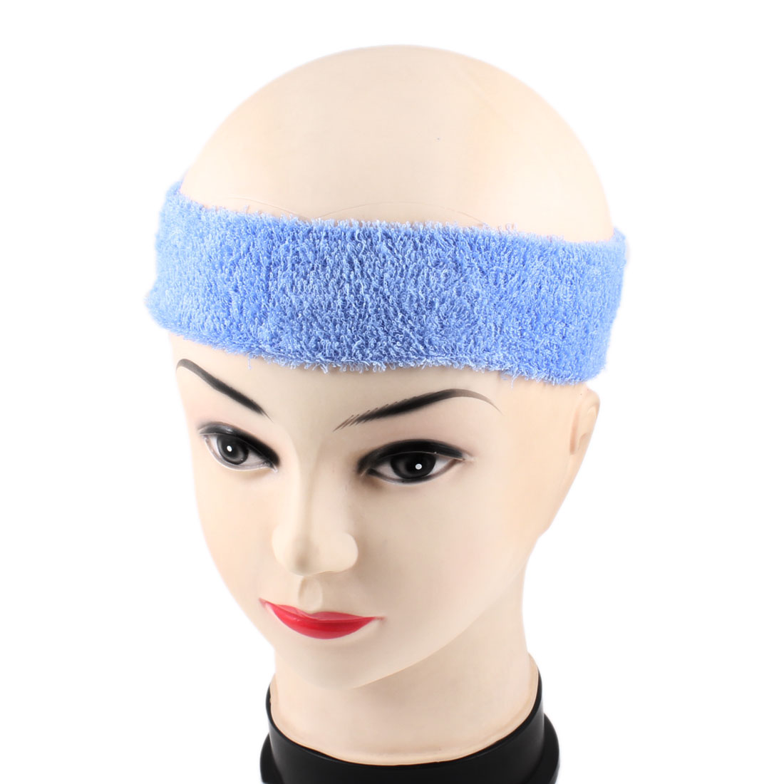 Outdoor Activity Exercise Stretchy Protective Head Band Light Blue for Adult