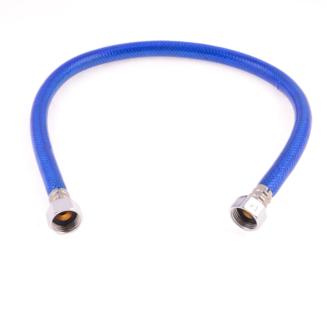 "23.6"" 19mm Threaded Flexible Shower Hose Water Heater Connector Pipe Blue"