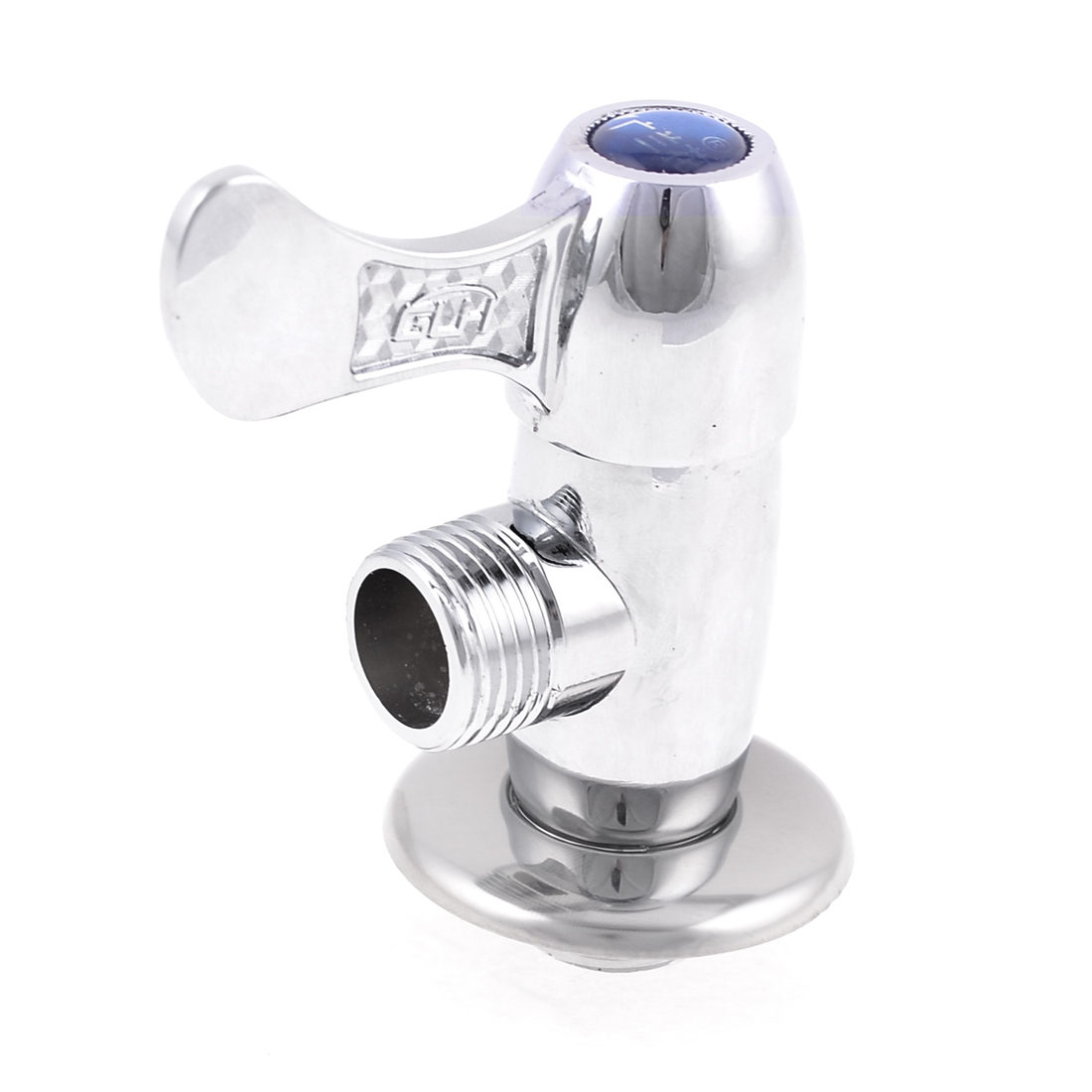 Kitchen 20mm Threaded Chrome Plated Brass Angle Stop Valve
