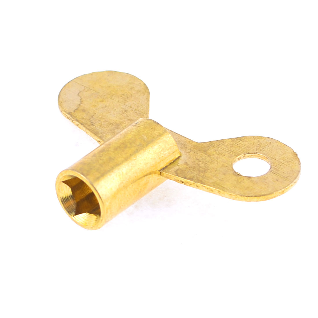 Water Tap Faucet 6.6mm Square Hole Key Knob Switch Gold Tone