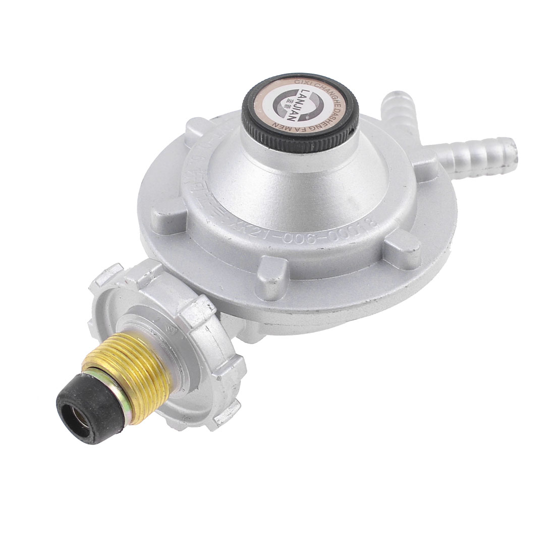 Bottled Compressed Gas Pressure Regulator Valve Coffee Silver Tone