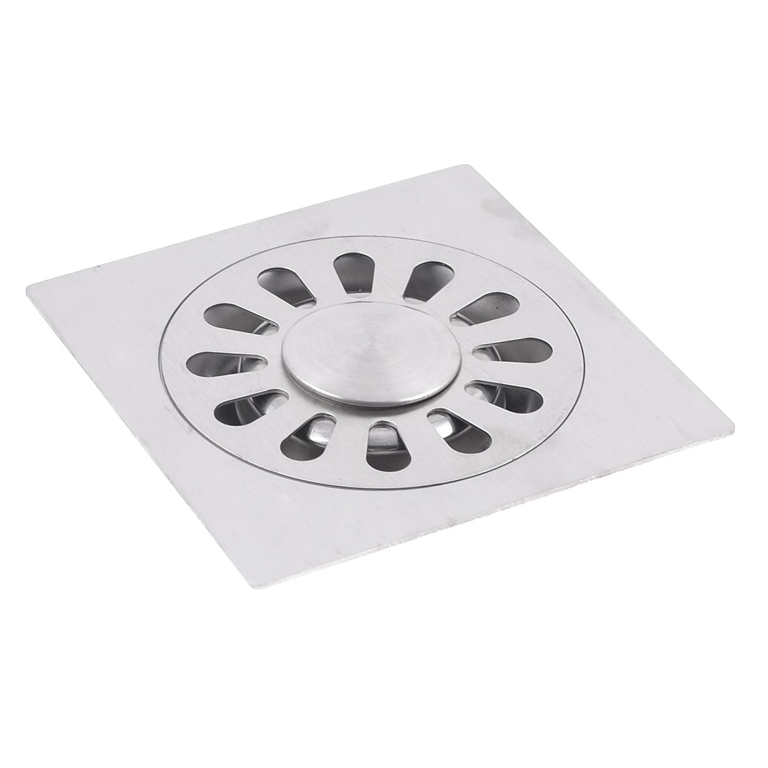 Bathroom 10cm x 10cm Square Shape Floor Grating Drain 3.1""