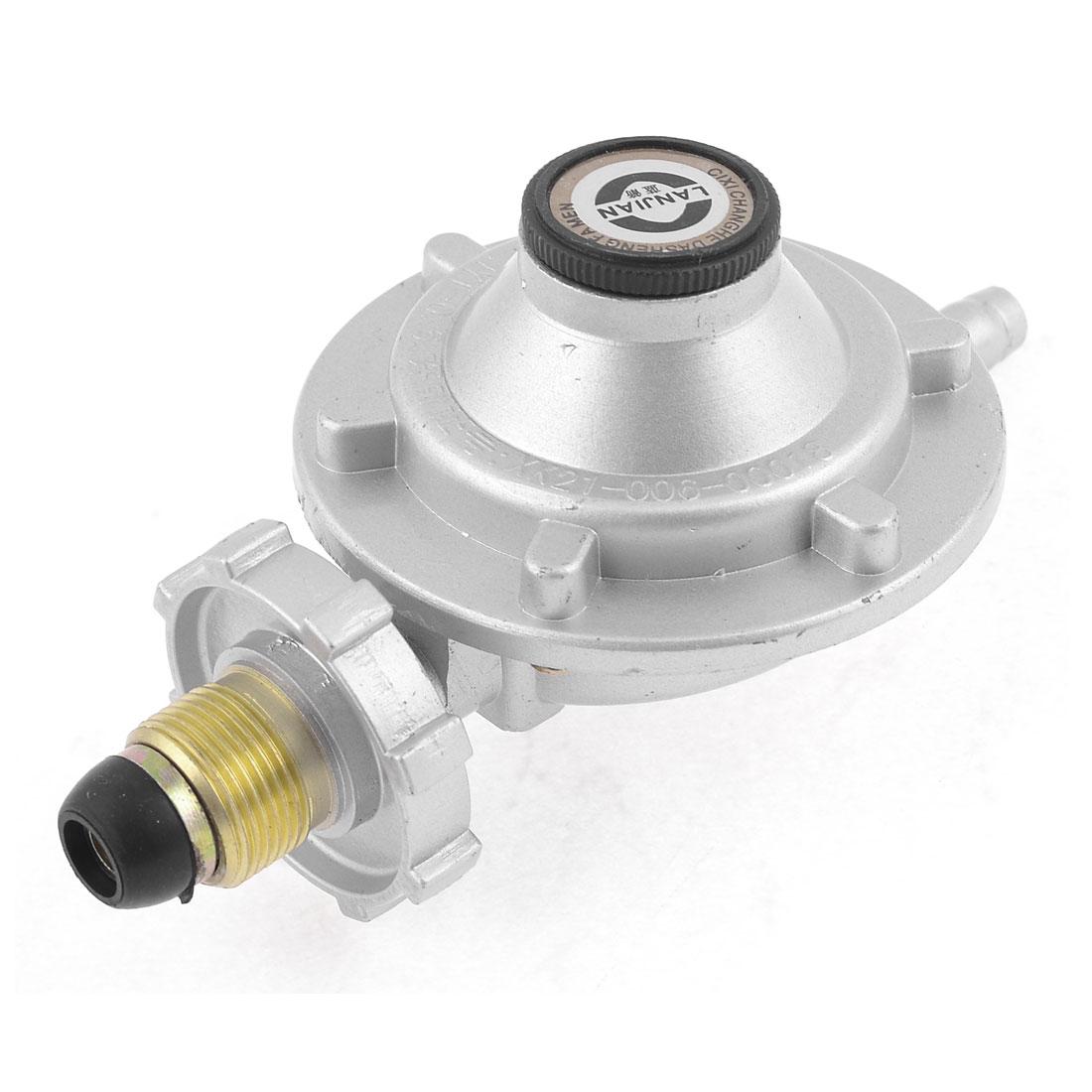 "Home 1/2""PT Male Thread Gas Liquefied Petroleum Pressure Regulator Silver Tone"