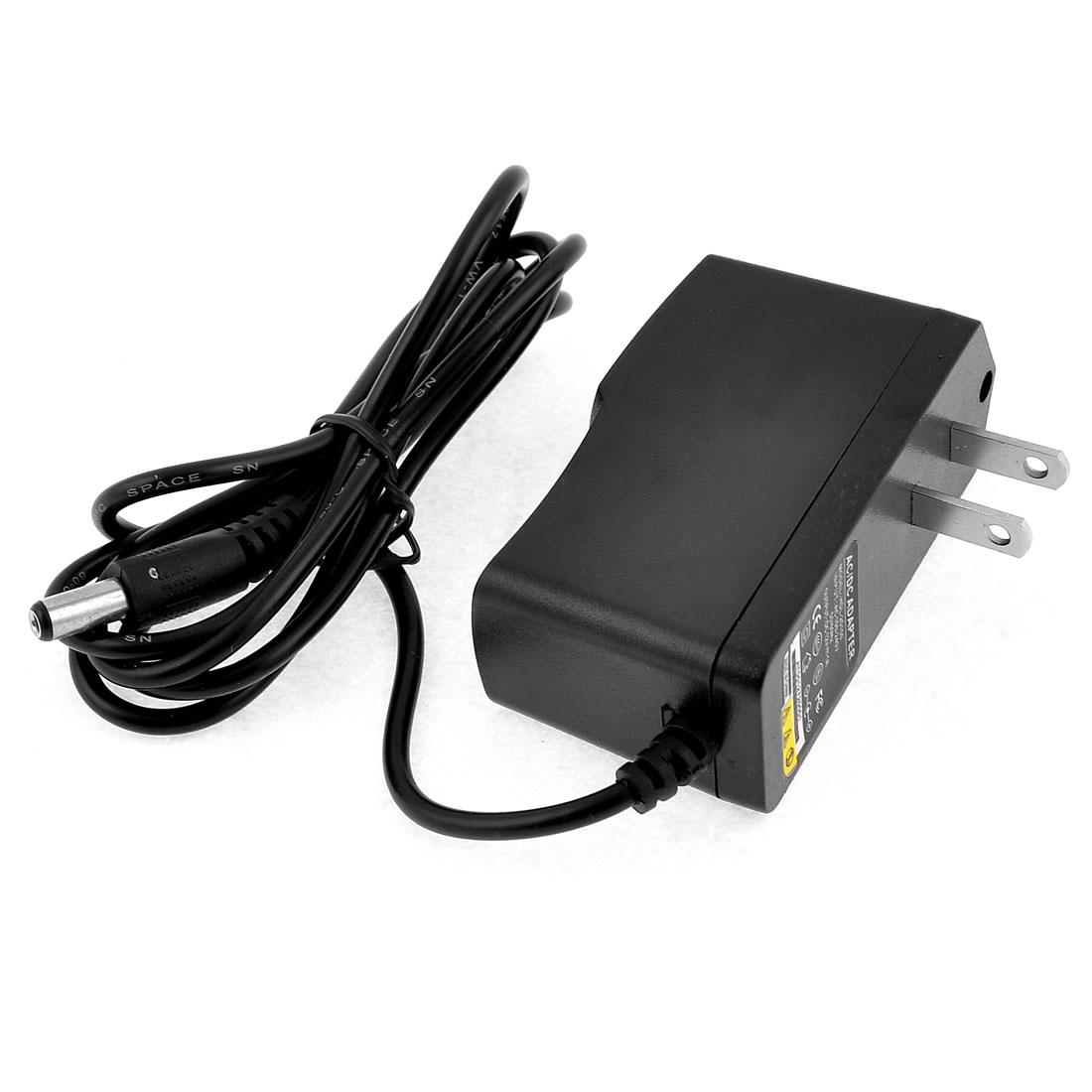 US Plug AC 100/240V 50-60Hz to DC 12V Black Wall Power Adapter