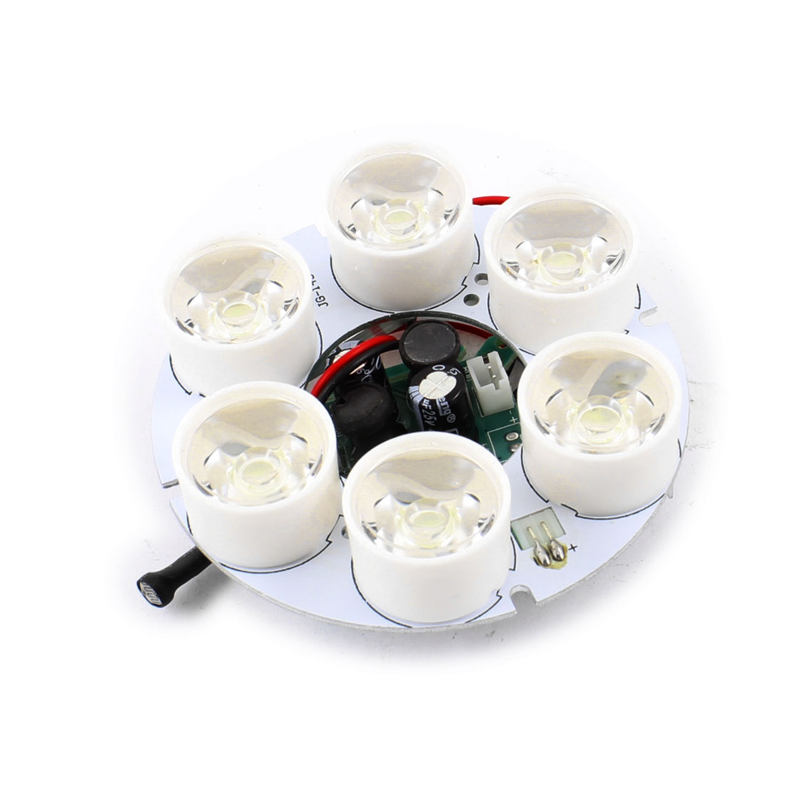 CCD CCTV Camera White 5mm 6-LED Lamp 80 Degree Round IR Infrared Board