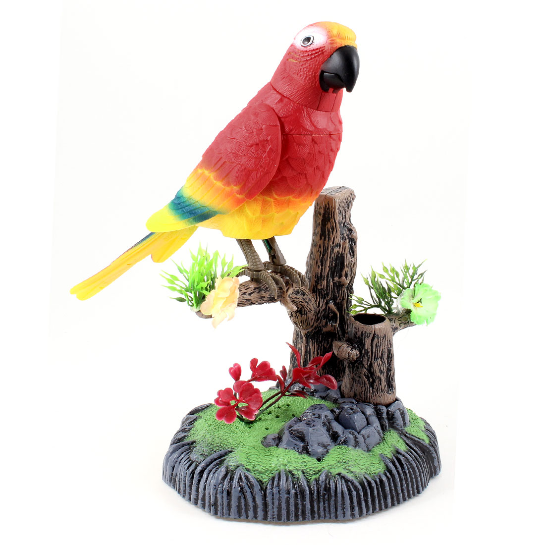 Children Plastic Toy Tool Sound Voice Control Chirping Parrot Bird Colorful