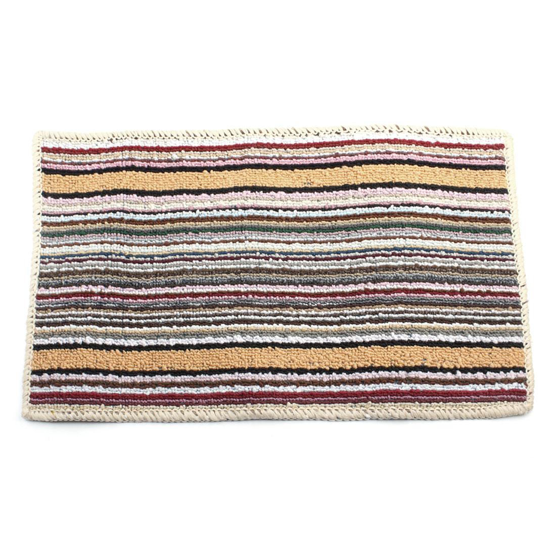 54cm x 33cm Home Rectangular Striped Printed Nonslip Floor Mat Area Rug Carpet