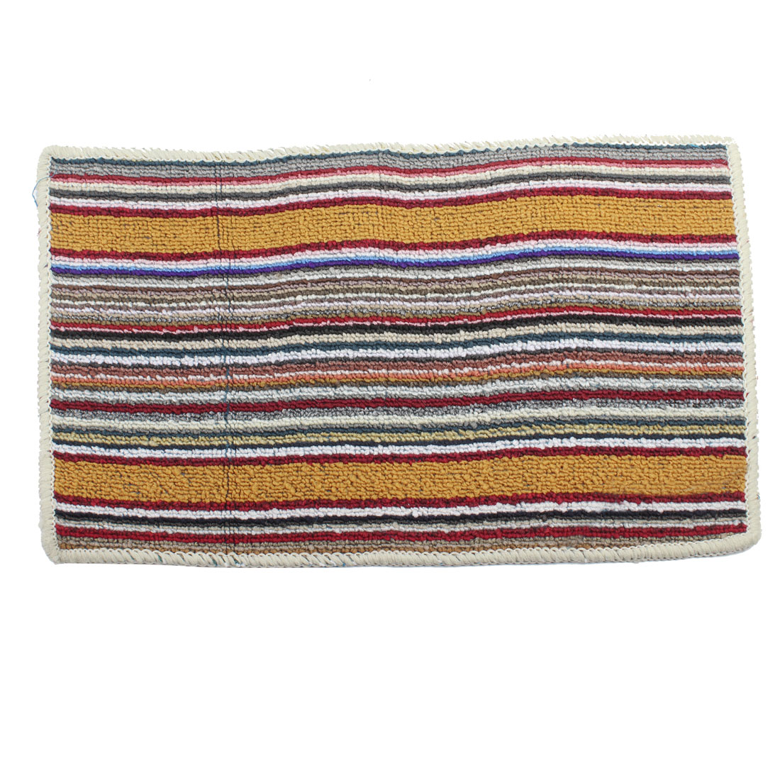Family Multicolored Rectangle Striped Pattern Soft Carpet Area Rug 53cm x 33cm