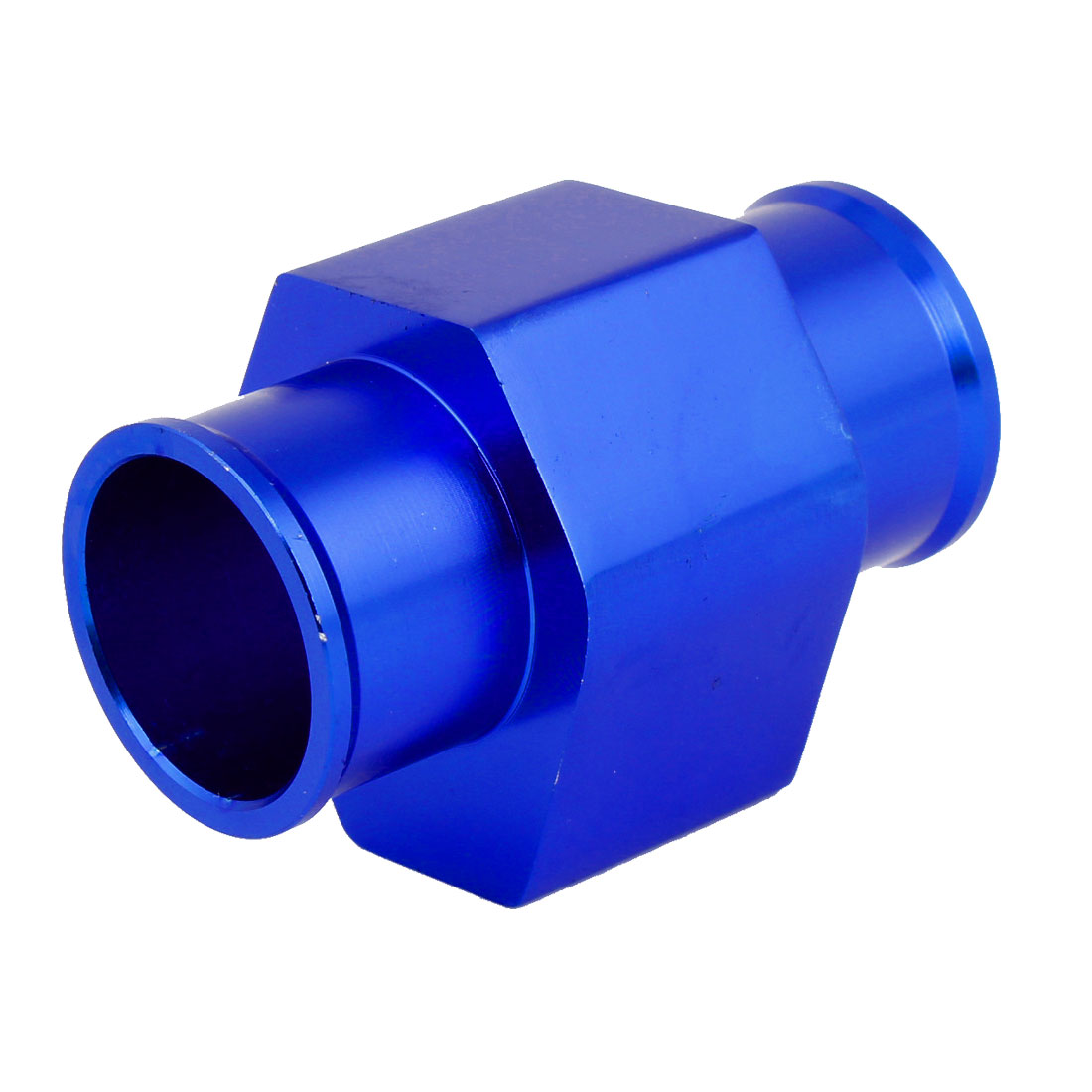 "36mm 1.4"" Diameter Water Temperature Radiator Hose Joint Pipe Blue w 2pcs Clamps"