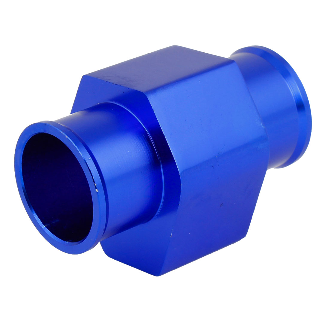 Water Temperature Gauge Sensor Radiator Hose Adapter Joint Pipe Blue 32mm