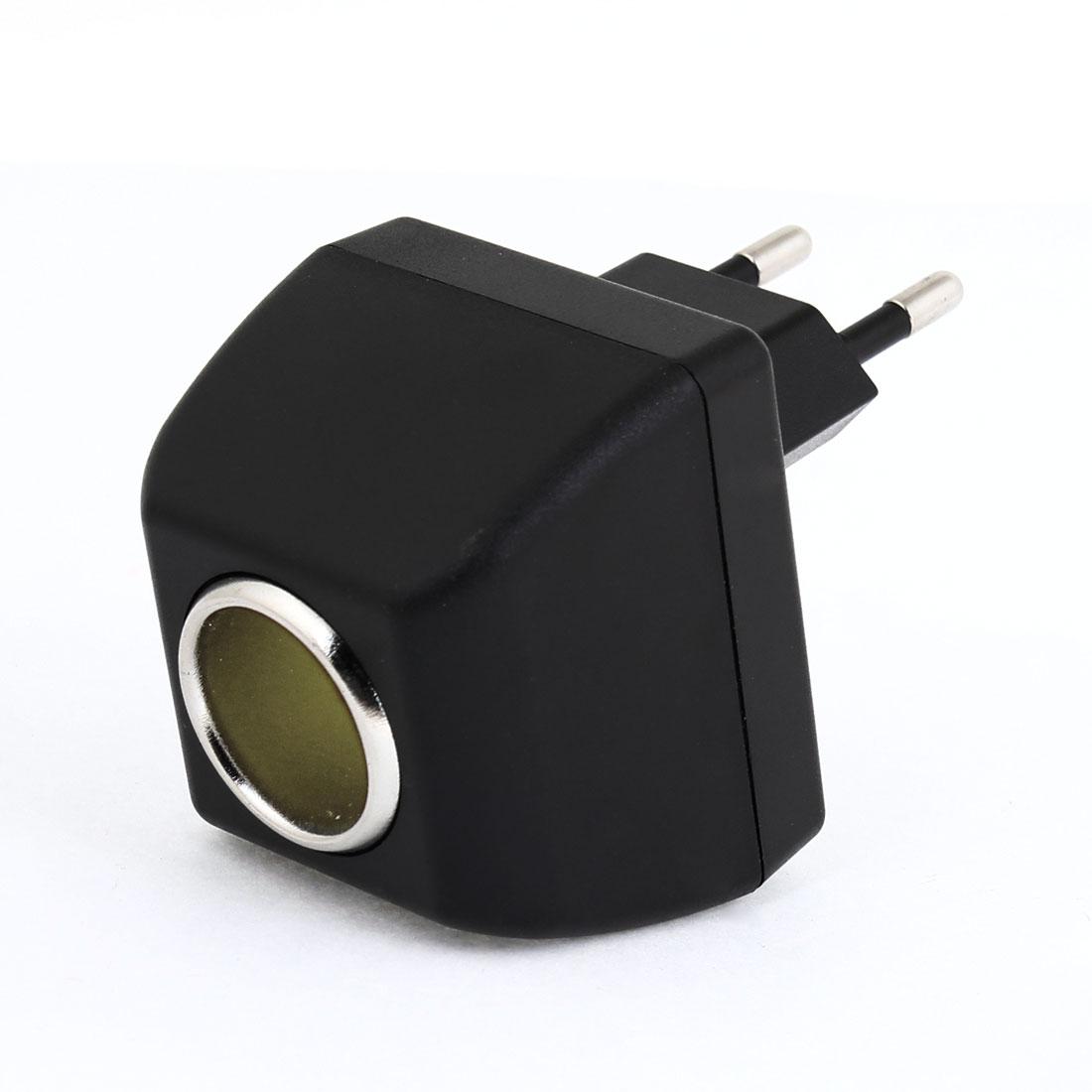 EU Plug AC 90V-240V to Car Charger Socket Switch Transformer Output 12VDC