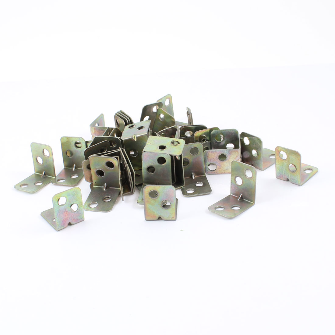 Shelf Door 15mm x 20mm x 20mm 90 Degree 4 Holes Corner Brackets 100 Pcs