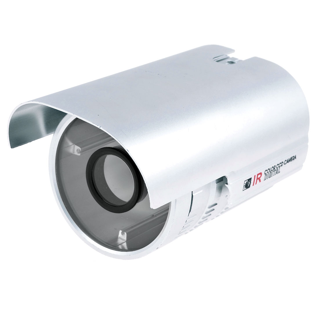 "6"" Outdoor Weatherproof CCTV IP IR Camera Housing Enclosure Protector Silver Tone"