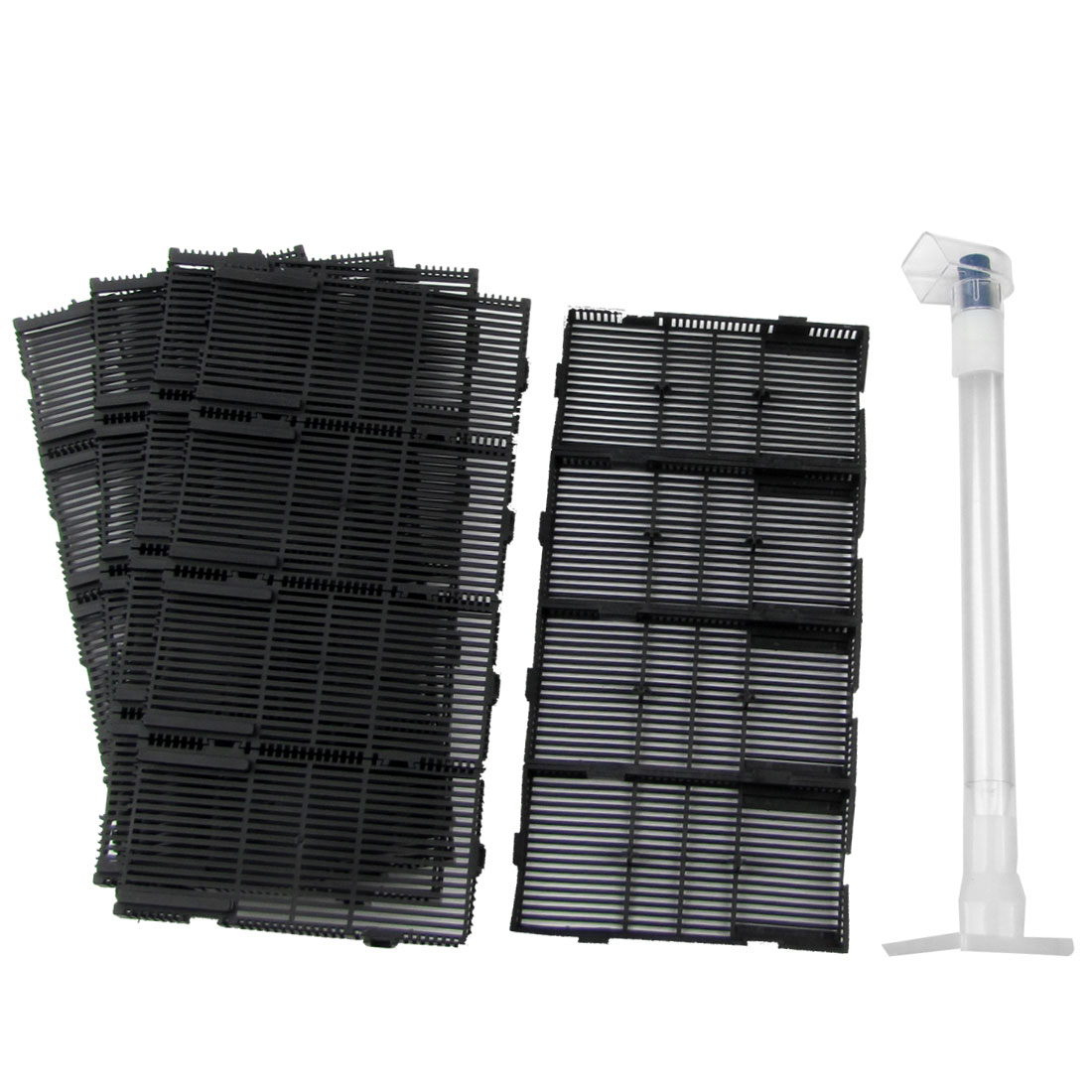 20 Pcs Black Plastic Aquarium Undergravel Filter + Air Line Hose + Tube