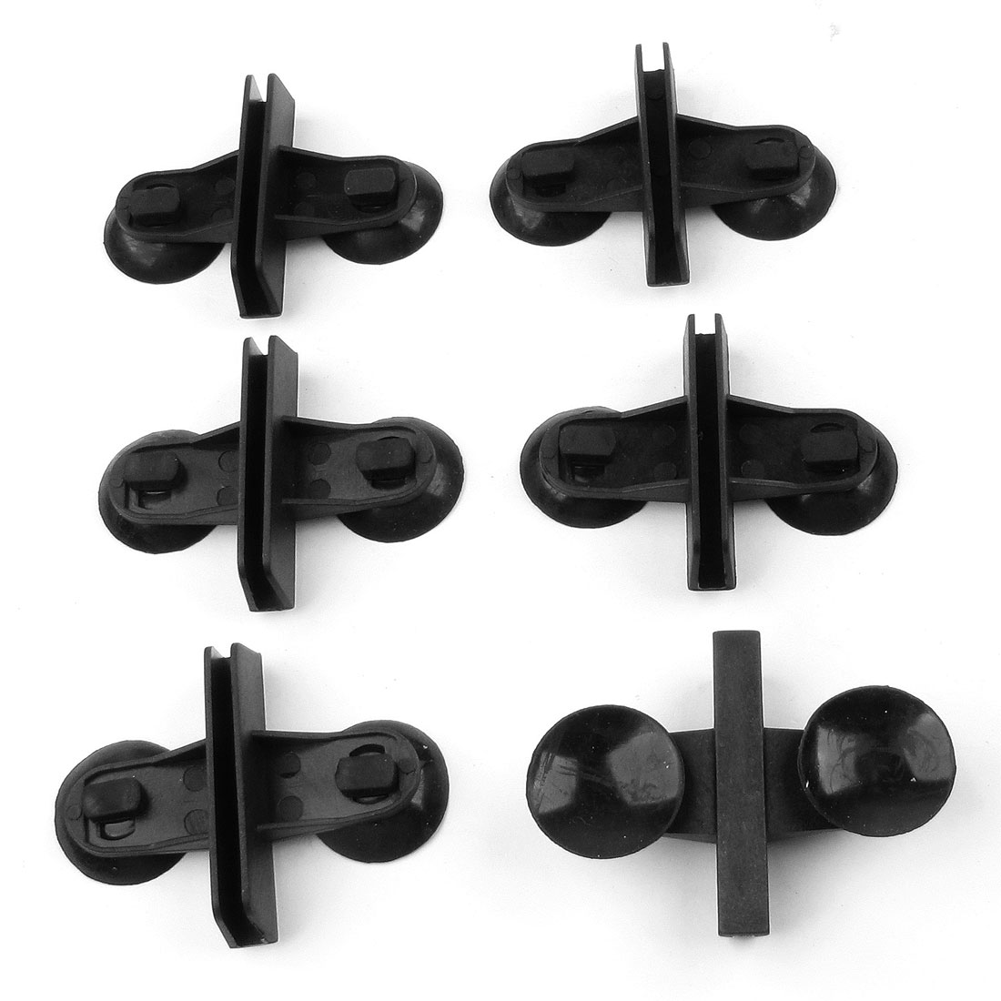 6 Pcs Black Plastic Aquarium Tank Suction Cup 60mm x 5mm Glass Clips