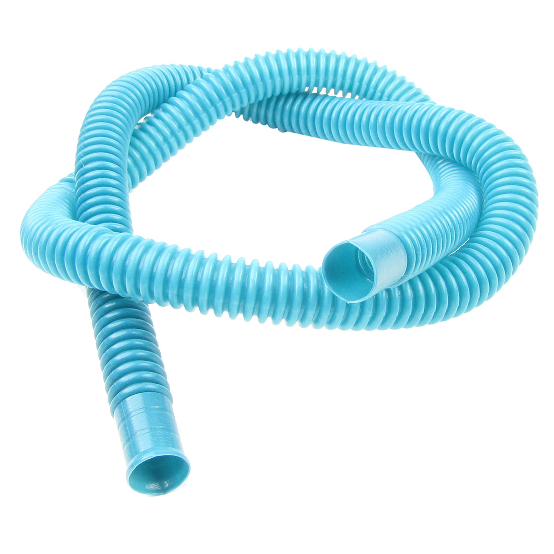 Cyan Plastic 3.4Ft Washing Machine Water Waste Drain Hose Pipe