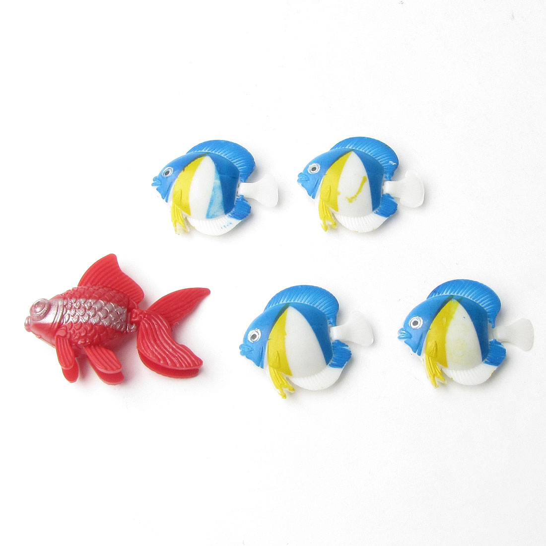 Aquarium Fish Tank Decoration Plastic Manmade Floating Fish Ornament 5pcs
