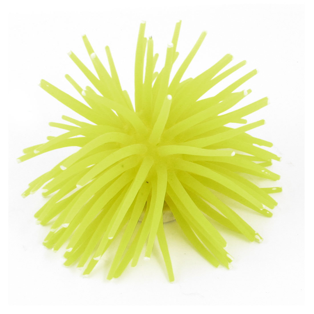 "Fish Tank Embellishment Simulated 2"" Height Anemone Yellow Manmade Coral Plant"