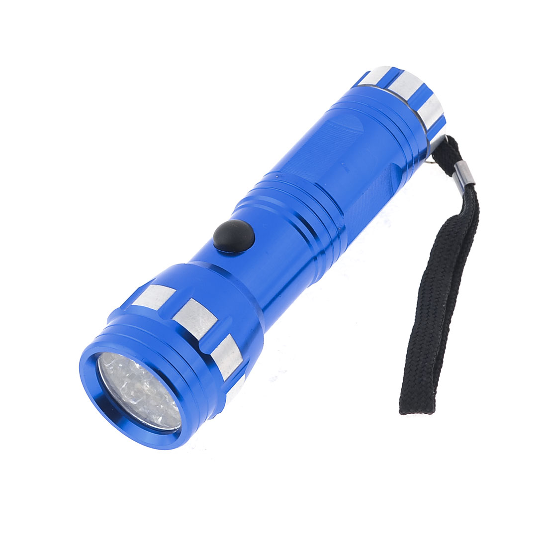 Battery Powered Blue Shell 13 White LED Torch Flashlight