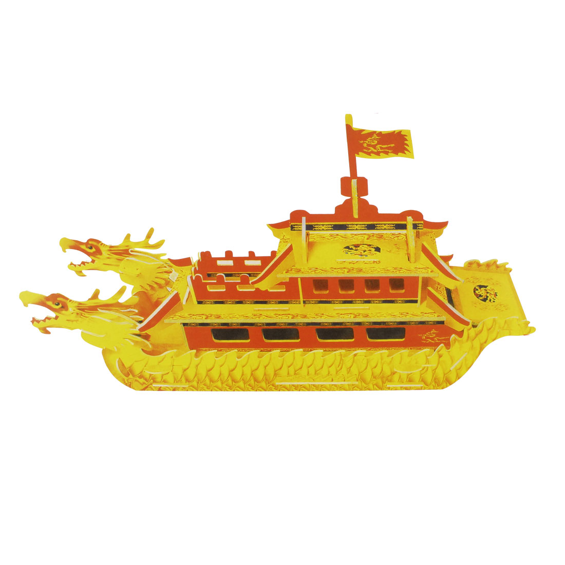 Children Assembly Foam Paper 3D Model Dragon Ship Puzzle Construstion Kit Toy