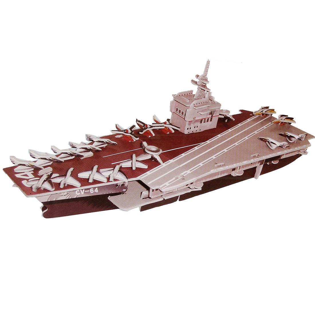 Children Creative USS Constellation Aircraft Carrier 3D Puzzle 4 Sheets