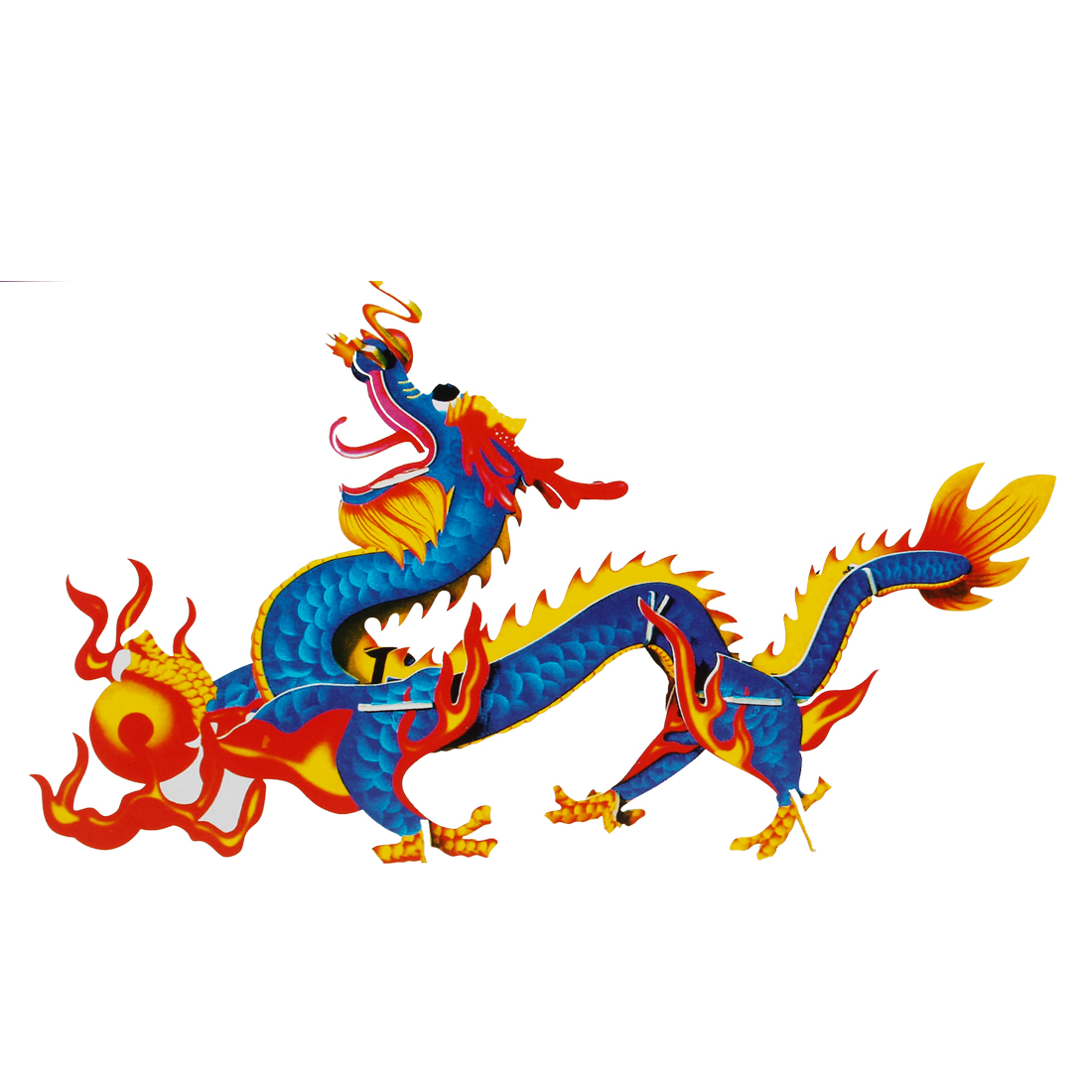 4 Sheets Lucky Chinese Dragon 3D Jigsaw Puzzles Toys for Kids